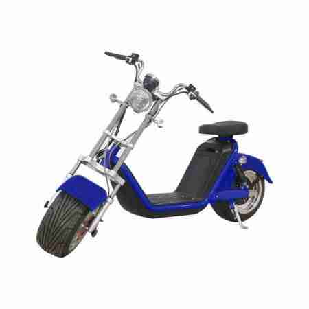 dark blue electric scooter